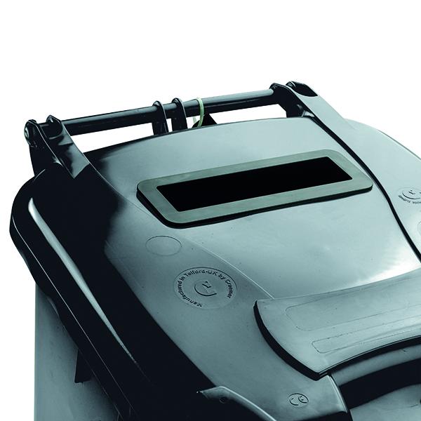Confidential Waste Wheelie Bin 140 Litre Grey 377880