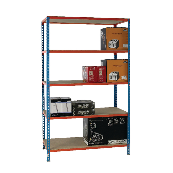 Standard Duty Painted Orange Shelf Unit Blue 378986
