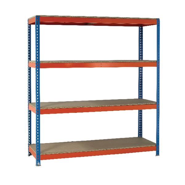 VFM Orange/Zinc Heavy Duty Boltless Shelving 379045
