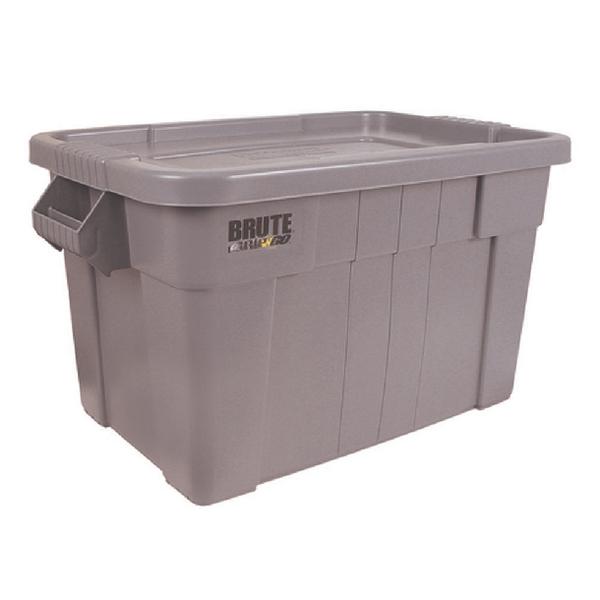 Brute Tote Box/Lid 75 Litre Grey (L707 x W441 x D384mm) 382216