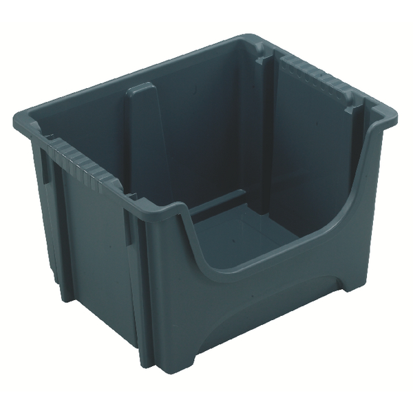 VFM Dark Grey Picking Containers 50 Litre (Pack of 3) 382592