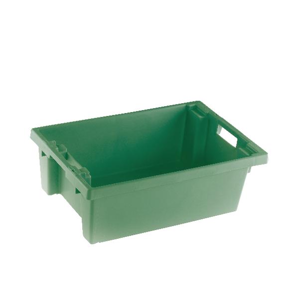 VFM Green Solid Slide Stack/Nesting Container 32 Litre 382961