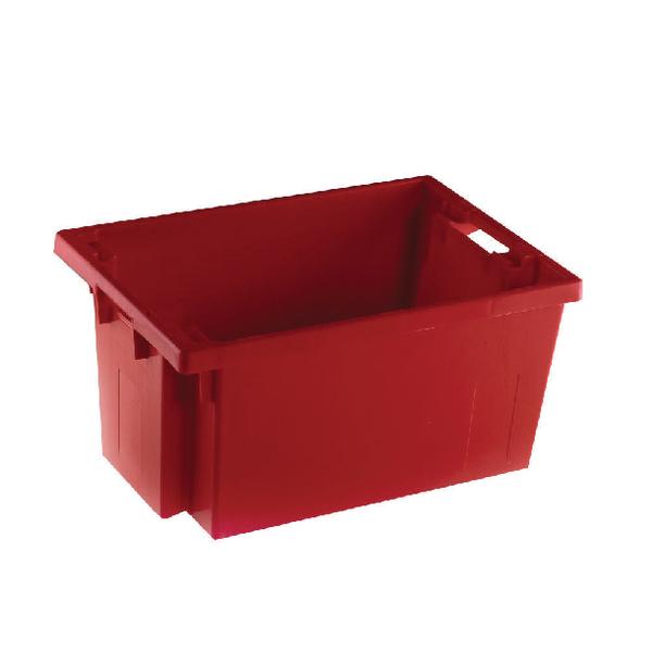 VFM Red Solid Slide Stack/Nesting Container 50 Litre 382964