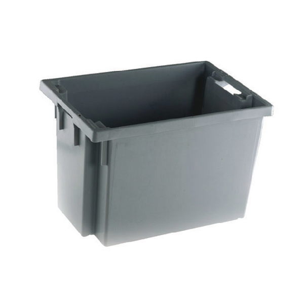 Solid Slide Stack/Nesting Container 600X400X400mm Grey 382976