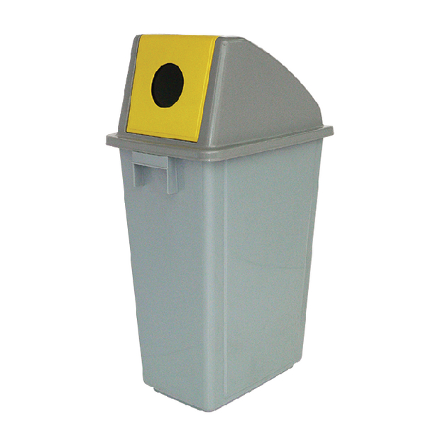 Recycling Container 60 Litre Bottle Lid Yellow 383014