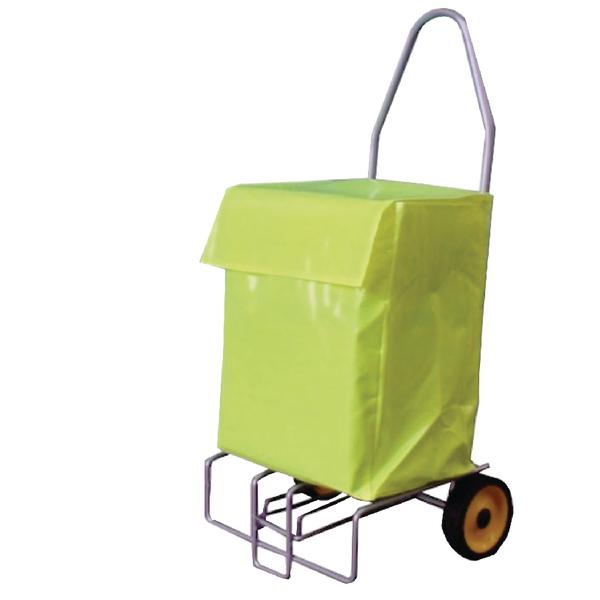 Folding Tubular Steel Mail Trolley (100kg capacity) 383472