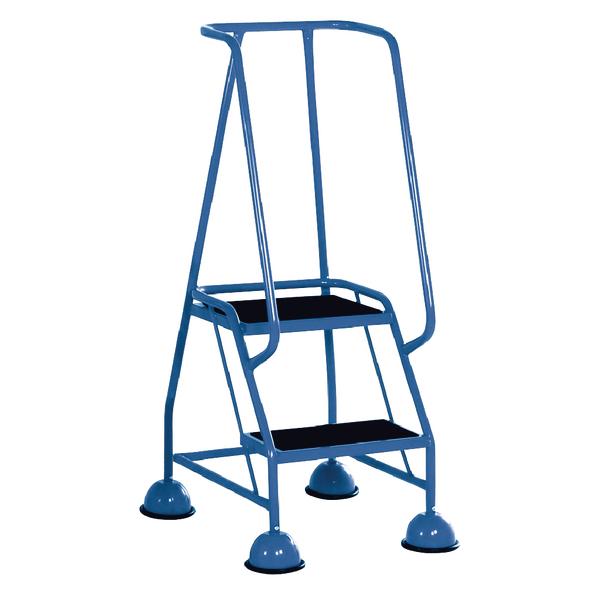 Light Blue 2 Tread Steps (125kg Capacity, W380 x D540 x H1185mm) 385130