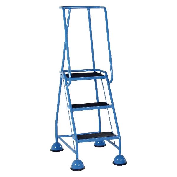 Light Blue 3 Tread Step Ladder (Load capacity: 125kg) 385134