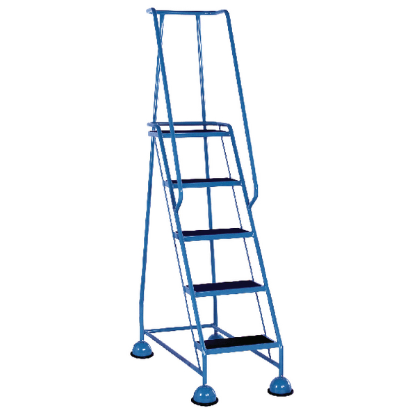 Light Blue 5 Tread Step Ladder (Load capacity: 120kg) 385142