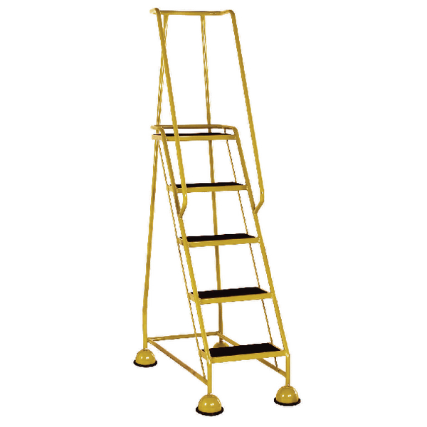 Yellow 5 Tread Step Ladder (Load capacity: 125kg) 385145