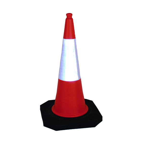 2 Part Traffic Cone 1000mm (Base Constructed of 100% Recycled Materials) 398431