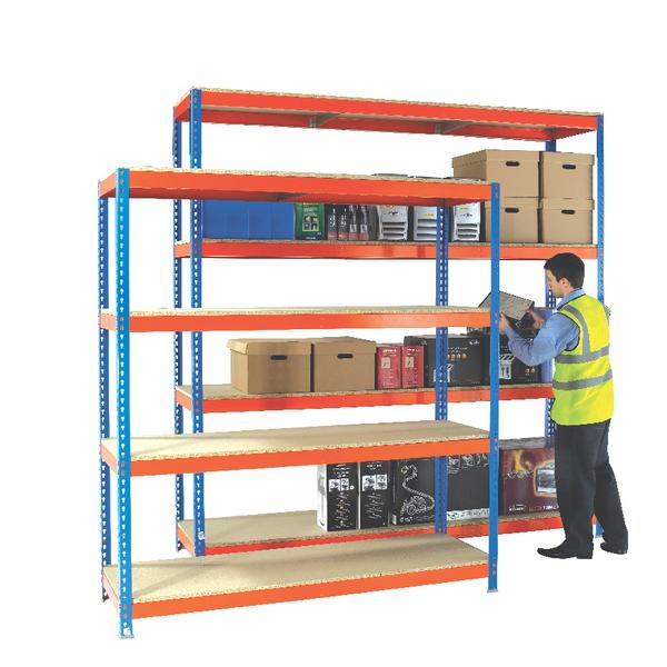 Heavy Duty Painted Additional Shelf 2100x900mm Orange/Zinc 378864