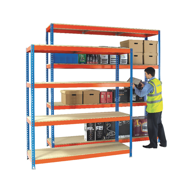 Heavy Duty Painted Additional Shelf 1800x600mm Orange/Zinc 378857
