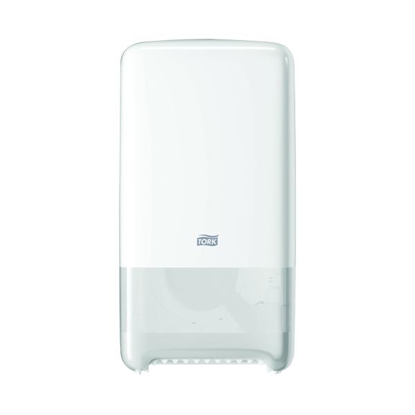 Tork T6 Twin Mid-Size Toilet Roll Dispenser White 557500