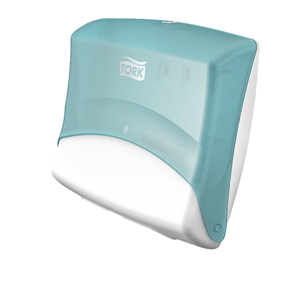 Tork Folded Wiper Cloth Dispenser W4 Turquoise and White 654000