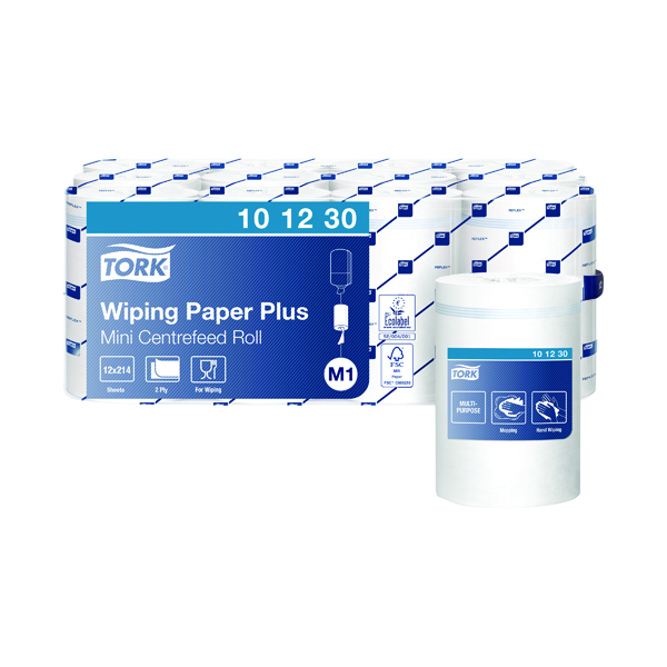Tork Mini Centrefeed Roll 2-Ply 75m White (Pack of 12) 101230