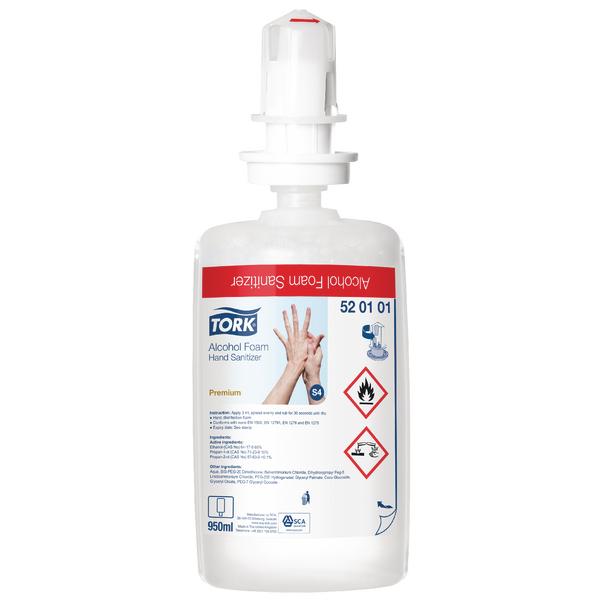 Tork Alcohol Foam Hand Sanitiser S4 Refill 1 Litre (Pack of 6) 520101