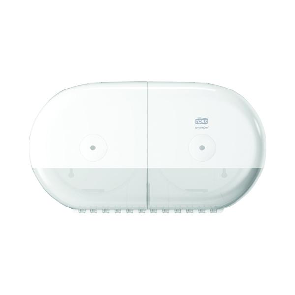 Tork T9 SmartOne Twin Mini Toilet Paper Dispenser White 682000