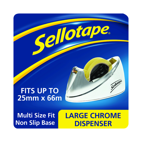 Sellotape Chrome Dispenser Large 575450