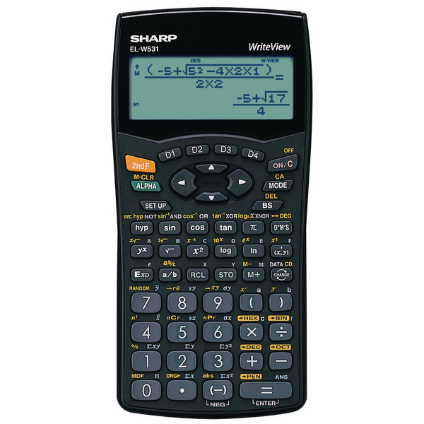 Sharp ELW531B Scientific Calculator (4-Line Display with 335 Functions)