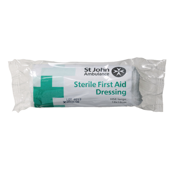 St John Ambulance Large Dressing 180x180mm (Supplied in a sterile dressing) F90107
