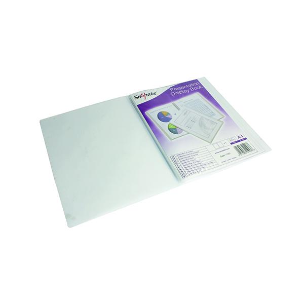 Snopake Superline Presentation Book 20 Pocket A4 Clear 11951