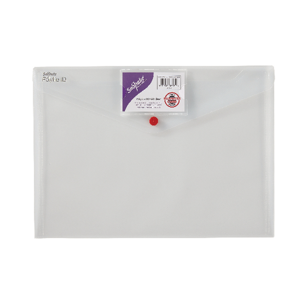 Snopake Polyfile ID Wallet A4 Transparent (Pack of 5) 12560