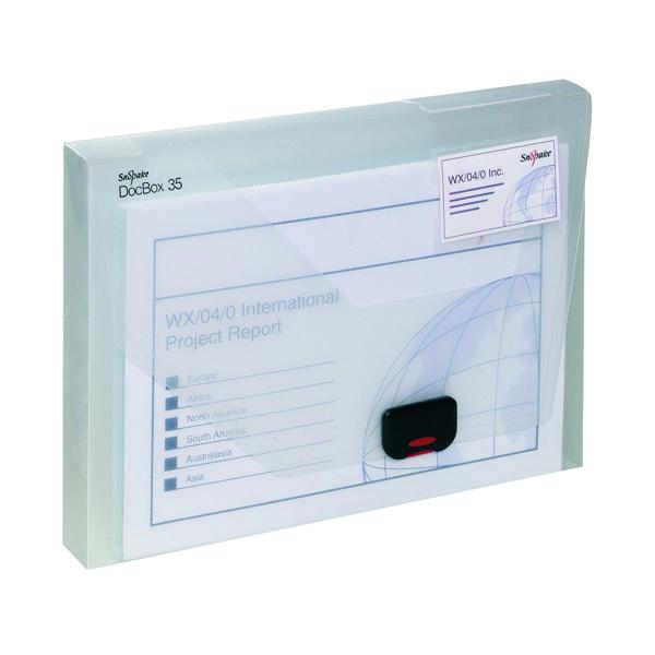 Snopake 35mm Document Box A4 Clear 12861