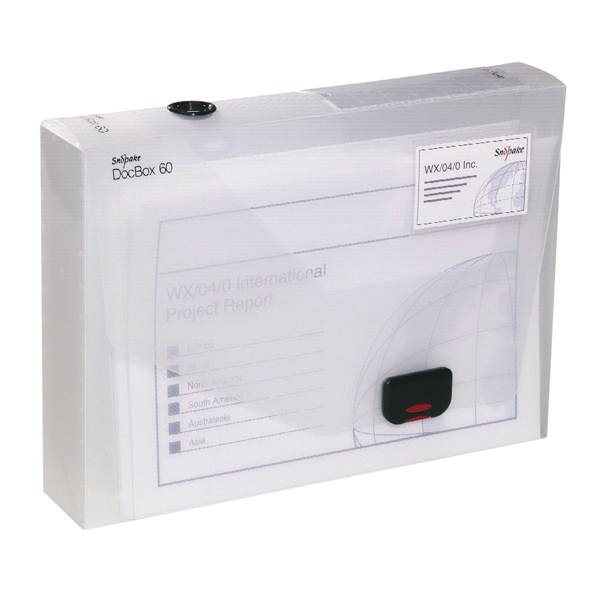 Snopake 60mm Document Box A4 Clear 12871