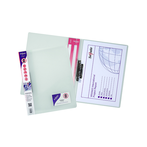 10 x Snopake ClampBinder A4 Clear (Holds up to 100 sheets of 80gsm paper) 12772