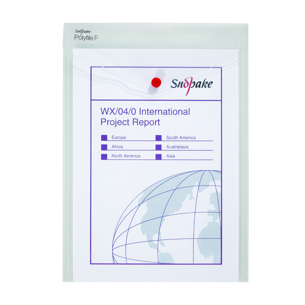 Snopake Polyfile P File Wallet Portrait A4 Clear (Pack of 5) 13263