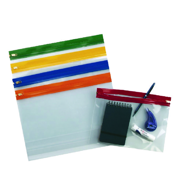 Snopake Zippa-Bag S Classic A4 Assorted (Pack of 25) 12796