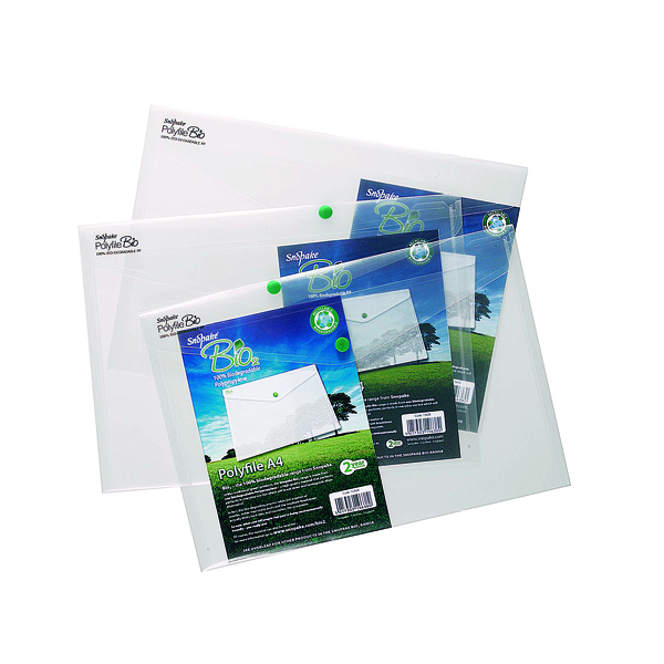 5 x Snopake Bio Polyfile A4 Clear (Made from 100% biodegradable polypropylene) 15428