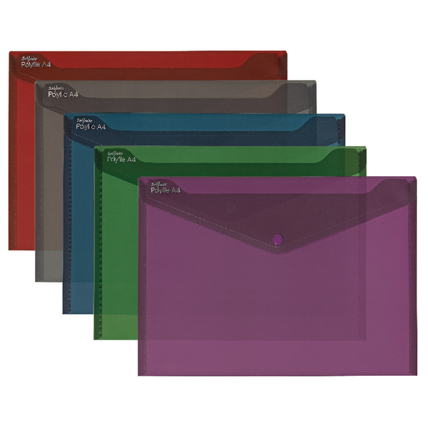 Snopake Fusion Polyfile A4 Assorted (Pack of 5) 15643