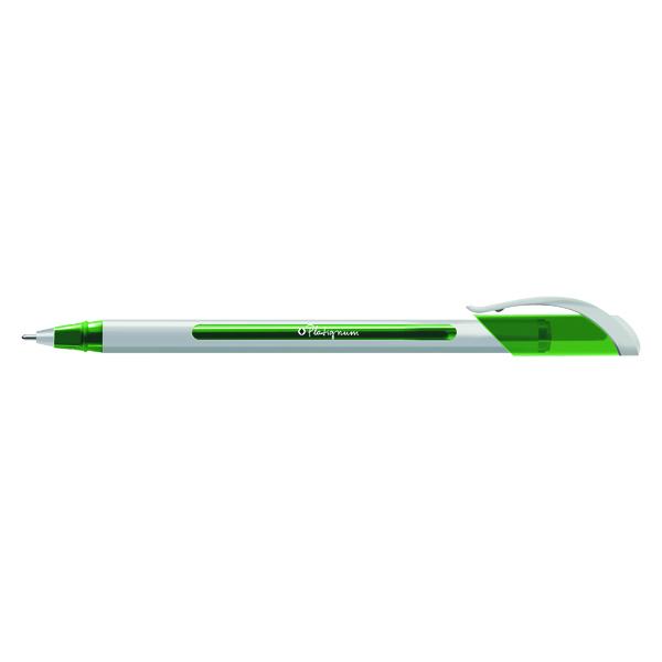 Snopake S-Tixx Ballpoint Pen Green (Pack of 12) 50515