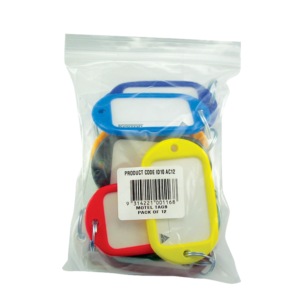 Kevron Giant Key Tags Assorted (Pack of 12) ID10AC12
