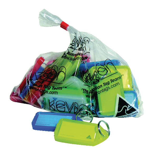 Kevron Plastic Clicktag Key Tag Large Assorted (Pack of 25) ID30AC25