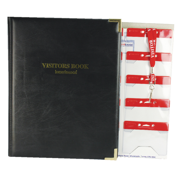Identibadge Visitors Book Set with Visitor Lanyards IBSSC4