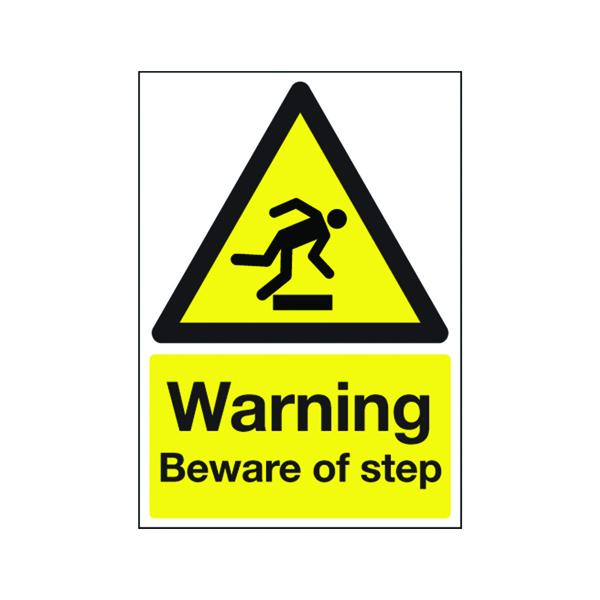 Safety Sign Warning Beware of Step A5 PVC HA21451R