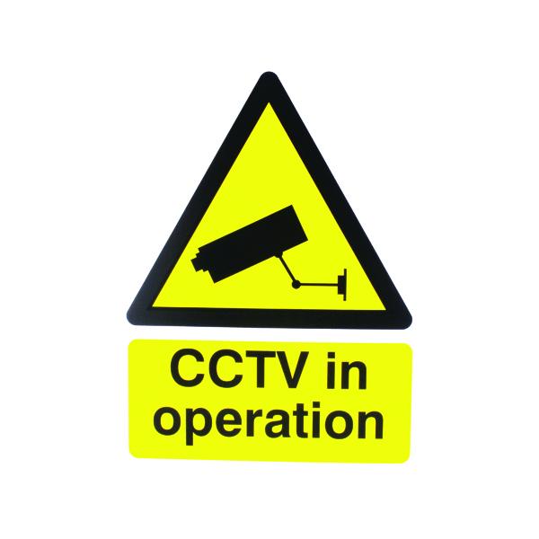 Warning Sign 400x300mm CCTV In Operation PVC CTV3B/R