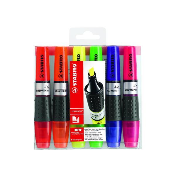 6 x Stabilo Luminator Highlighter Pen Assorted (Line width: 2.0 - 5.00mm) 71/6