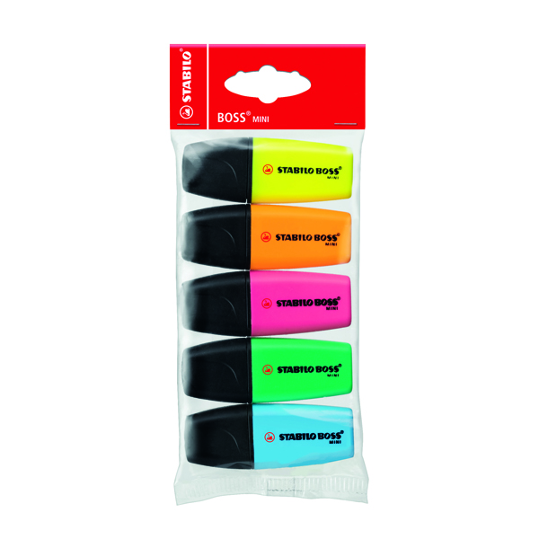 Stabilo Boss Mini Highlighter Pens Assorted (Pack of 5) 07/5-11