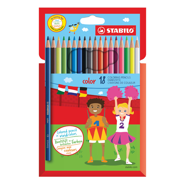 STABILO Color 18 Premium Colouring Pencils with Hexagonal Barrel (Pack of 6) Assorted 1918/77-01