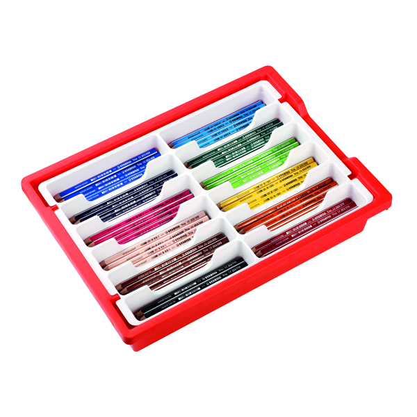 Stabilo Trio Thick Colouring Pencils Classpack (Pack of 96) 203/96