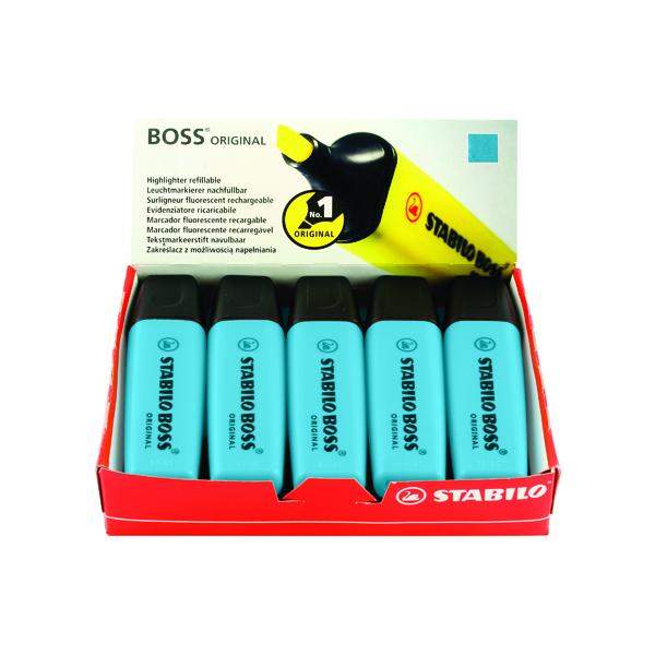 10 x Stabilo Boss Original Highlighter Blue (Line width: 2.0 - 5.0mm) 70/31/10