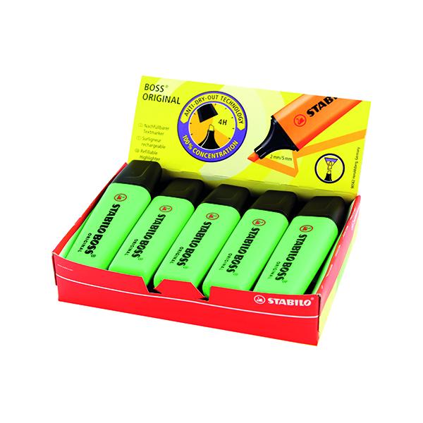 Stabilo Boss Original Highlighter Green (Line width: 2.0 - 5.0mm) 70/33/10