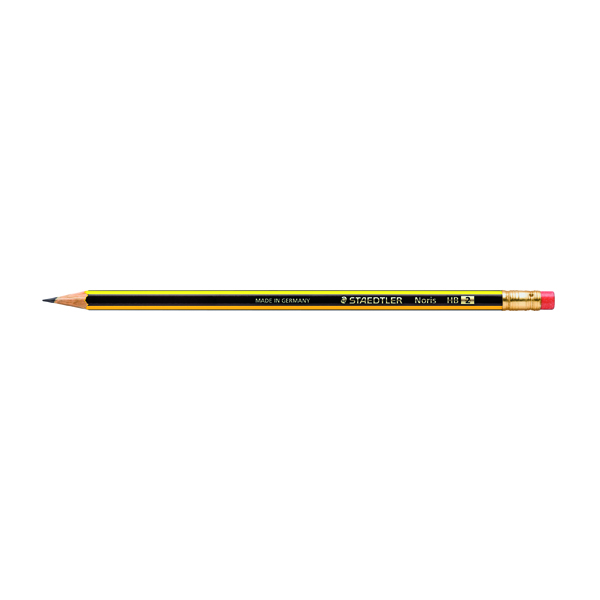 Staedtler Noris 122 Rubber Tipped HB Pencil (Pack of 12) 122-HBRT
