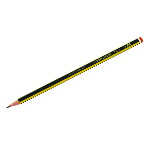 12 x Staedtler Noris 120 2B Pencil (Super-bonded lead to avoid breakages) 120-2B