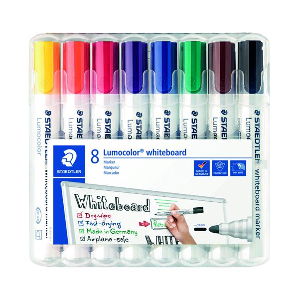 Staedtler Lumocolor 351 Drywipe Marker Assorted (Pack of 8) 351 WP8