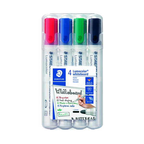 Staedtler Lumocolor 351 Drywipe Marker Assorted (Pack of 4) 351 WP4